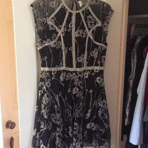 Free people black and white floral